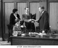 famille bureau banque de photo 1930 1930s famille dans bureau conversation
