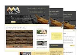 roofing contractor web template pack from serif com