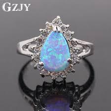 aliexpress buy new arrival white gold color aaa gzjy beautiful multicolor opal aaa cubic zirconia teardrop