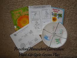 preschool homeschool curriculum plant life cycle lesson plan