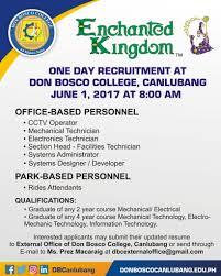 Cctv Experience Resume Hiring U2013 Don Bosco College U2013 Canlubang