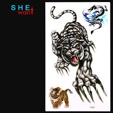 2017 crouching tiger temporary tattoos stickers