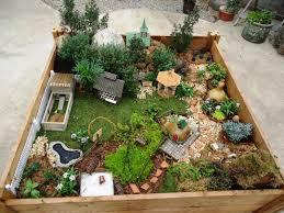Fairy garden or Gnome garden idea from a broken terra cotta pot