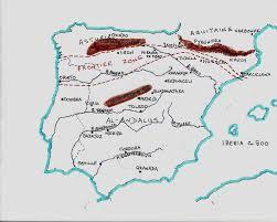 Iberian Peninsula Map Reconquista Asturias And León Spainthenandnow