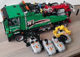 lego technic truck moc 5594 42008 service truck full rc bricksafe