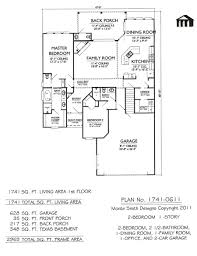house plans for narrow lots with front garage plan no 1741 0611