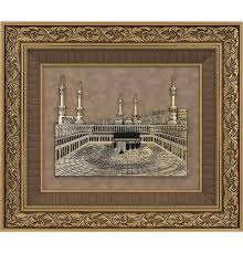 islamic home decor large framed hanging kaba and masjid al haram