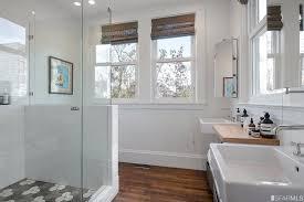 Bathroom Wainscotting Master Bathroom With Wainscoting U0026 Frameless Showerdoor In San