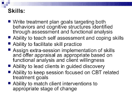 Counseling Treatment Plan Goals Cognitive Behavioral Therapy