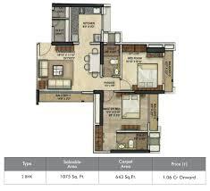 2 Bhk Floor Plans Floor Plans Of Runwal Eirene At Balkum Thane