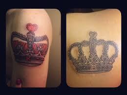 my boyfriend and i got somewhat matching tattoos it was my