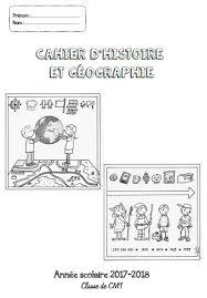 Page de garde  Cahier dhistoire géographie CM1CM2  Fée des écoles