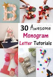 Monogramed Letters 30 Gift Ideas You Can Create With Monogram Letters