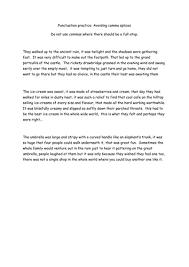 avoiding comma splices punctuation worksheet by amethystrose