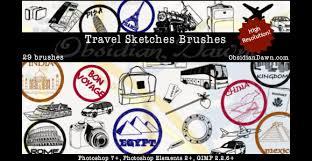 30 free scribble u0026 doodle photoshop brush packs