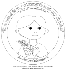 saints coloring pages eson me