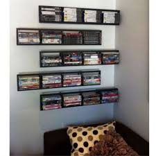 Wall Mounted Dvd Shelves by Living Room Wall Mounted Racks Shelves With 34 Hanging Dvd Rack Cd