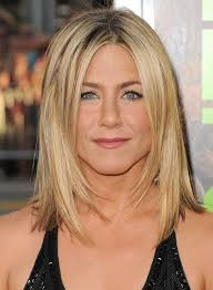 medium length haircuts for straight hair shoulder length blonde