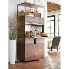Mini Bar Furniture by Crate And Barrel Maxine Bar Cabinet Best Home Furniture Decoration