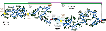 Caves In Tennessee Map by Trips Cave Country Canoes