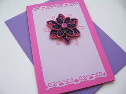 greeting card handmade greeting card quilling birthday card for