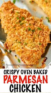 Fried Parmesan Crispy Baked Parmesan Chicken Spend With Pennies