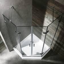 vigo 47 x 47 neo angle shower enclosure clear pvc