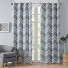 Gray Chevron Curtains Buy Grey Chevron Curtains From Bed Bath U0026 Beyond
