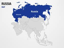 russia on world map powerpoint map slides russia on world map