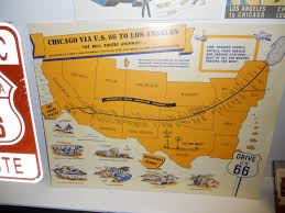 Route 66 Illinois Map by Route 66 Day Six The Long Drive Into Texas Paul Hogarth U0027s
