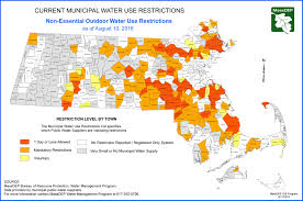 Massachusetts State Map by Does Your Town Have A Water Ban In Effect The Boston Globe