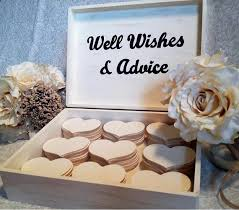 wedding wishes book customized large wedding guest book box alternative shabby chic