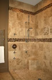 interior inspiring small bathroom shower decoration using brown