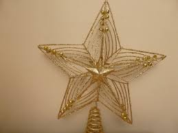 christmas decorations 30cm large gold star glitter and beads