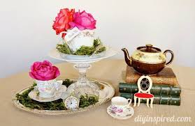 party centerpieces budget vintage mad hatter tea party ideas diy inspired