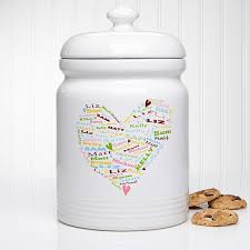 personalized cookie jars heart of personalized cookie jar