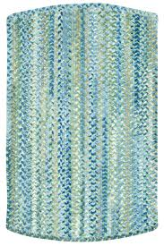Blue Indoor Outdoor Rug Light Blue Ocracoke Braided Chenille Rug Cottage Home