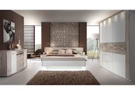 Schlafzimmer Mit Metallbett Schlafzimmer Mit Bett 180 X 200 Cm Sandeiche Weiss Hochglanz