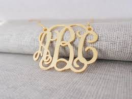 monogrammed necklace gold personalize gold monogram necklace with any initials nanvo
