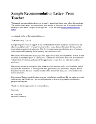ideas of sample recommendation letter research fellowship in