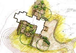 floor plans of former with architectural design project for