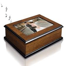 4x6 photo box ikee design wooden glossy musical jewelry box with 4x6 photo frame