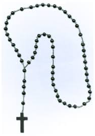 black rosary black rosary necklace costumes