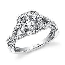 vintage halo engagement rings vintage crisscross halo engagement ring