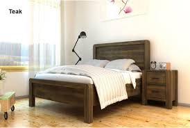Modern Wooden Bed Frames Uk Chester Solid Handcrafted Acacia Wooden Bed Teak King