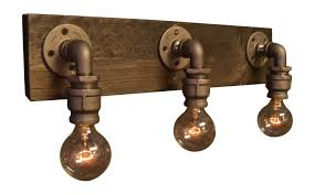 industrial bathroom light fixtures farmhouse light reclaimed wood industrial light industrial