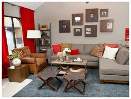 Brown Leather Armchair Design Ideas Modern Light Brown Living Room With Grey Rug Featuring Chic