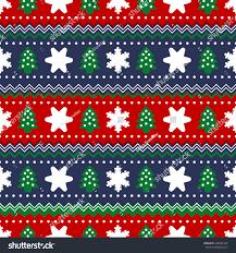 seamless scandinavian sweater pattern christmas stock vector