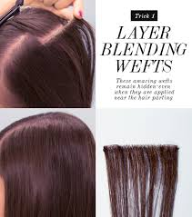 weft hair extensions how to hide layers using layer blending weft hair extensions