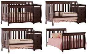 Stork Craft 4 In 1 Convertible Crib Stork Craft Portofino 4 In 1 Fixed Side Convertible Baby Crib And